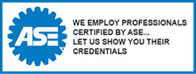 Everyday Performance professionals are ASE certified